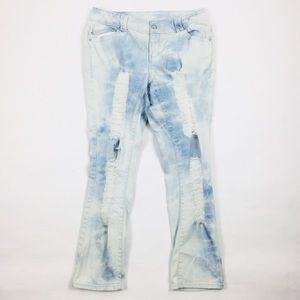 Women's Lane Bryant Slim Bleached Ripped Jeans